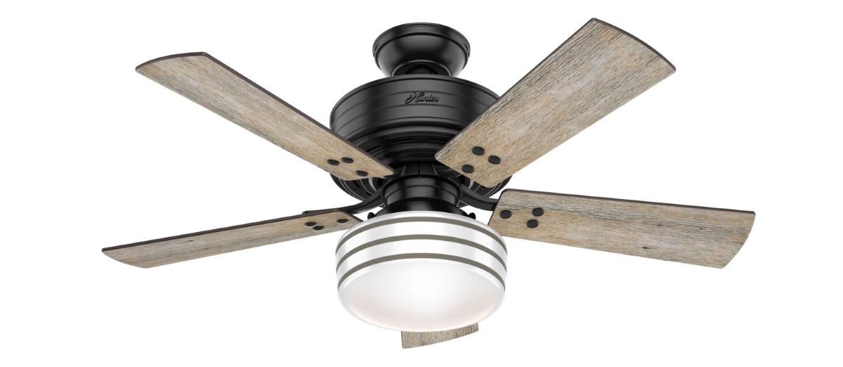 Hunter Cedar Key 44 Inch Matte Black Ceiling Fan