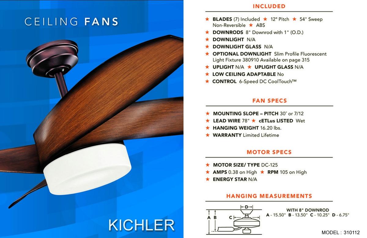 Kichler 360003ANS 36 Downrod Antique Satin Silver