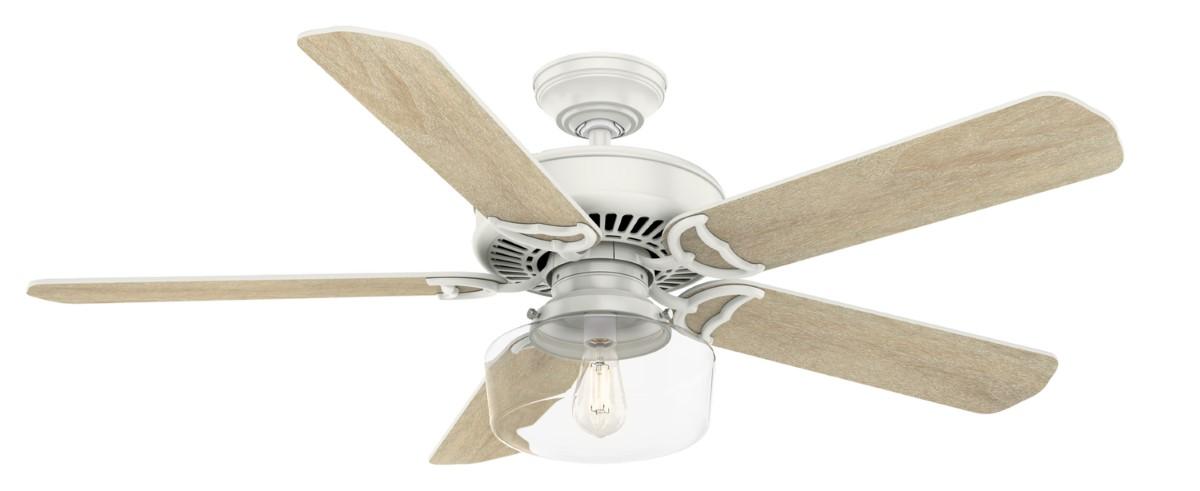 Casablanca Panama White Ceiling Fan LED Clear
