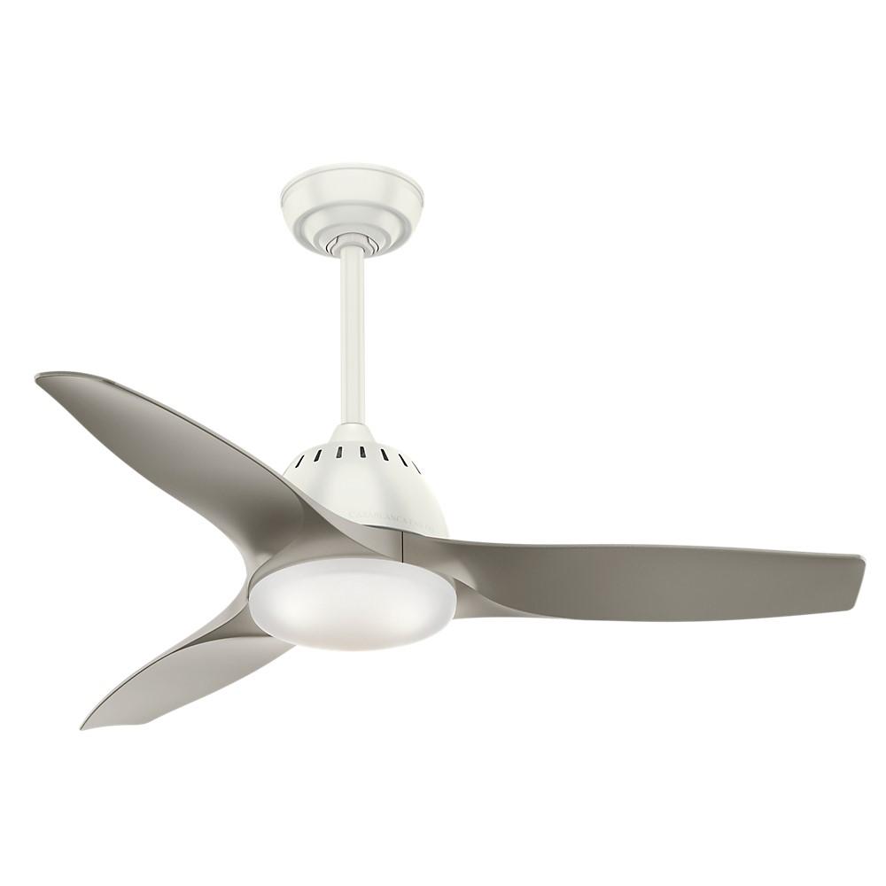 Casablanca Wisp 44 White Ceiling Fan Pewter