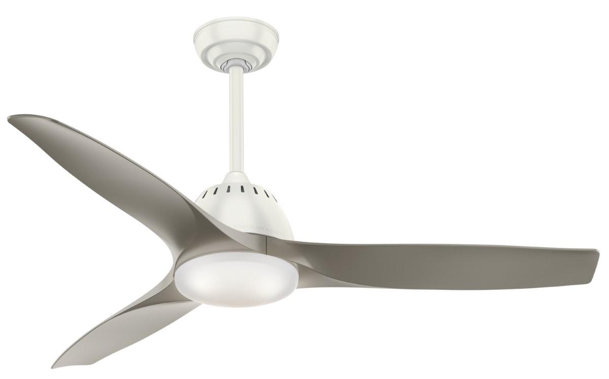 Casablanca Wisp 52 White Ceiling Fan Pewter