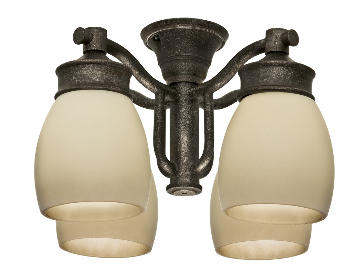 Casablanca Outdoor Wet Four-Light Light Kit with Tea Stain Shade - Aged Bronze (99087)