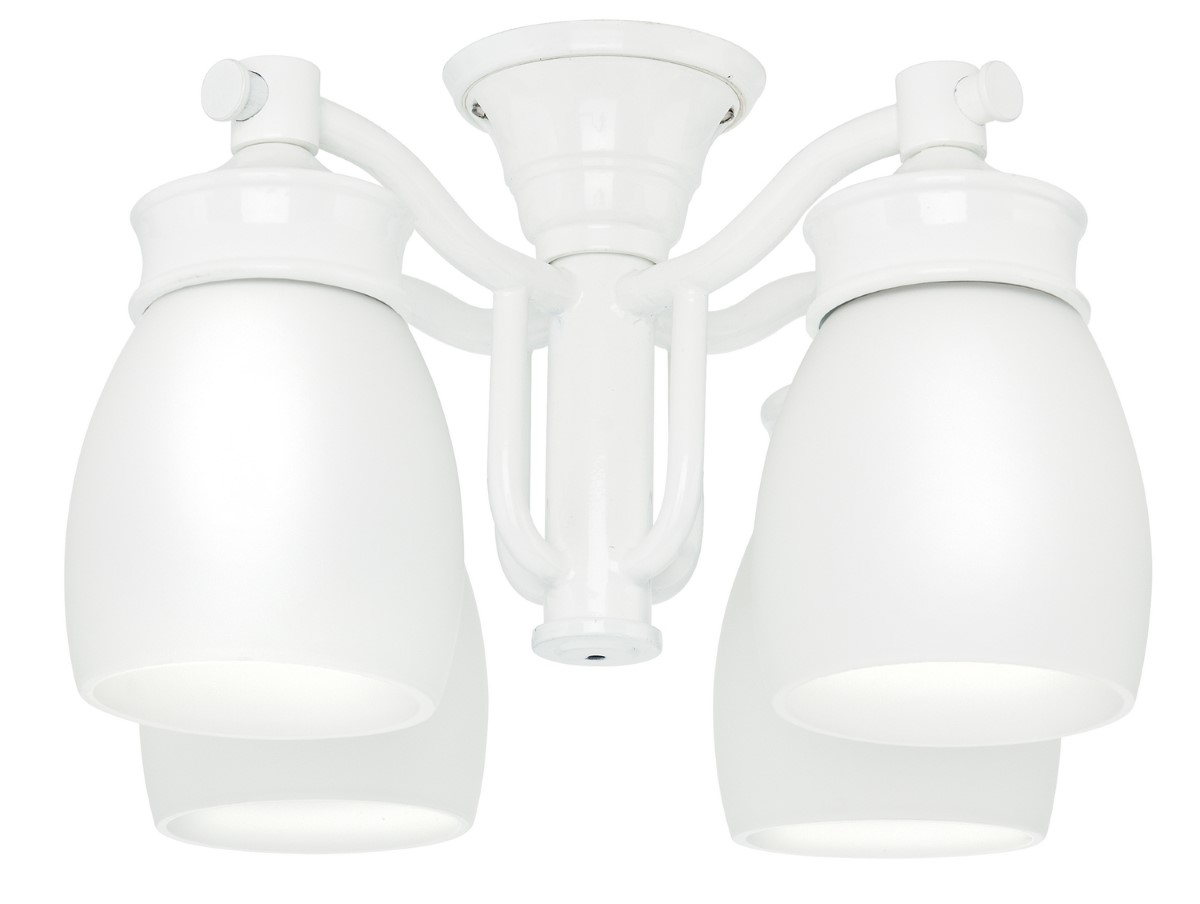 Casablanca Outdoor Wet Four-Light Light Kit with Cased White Shade - Snow White (99088)