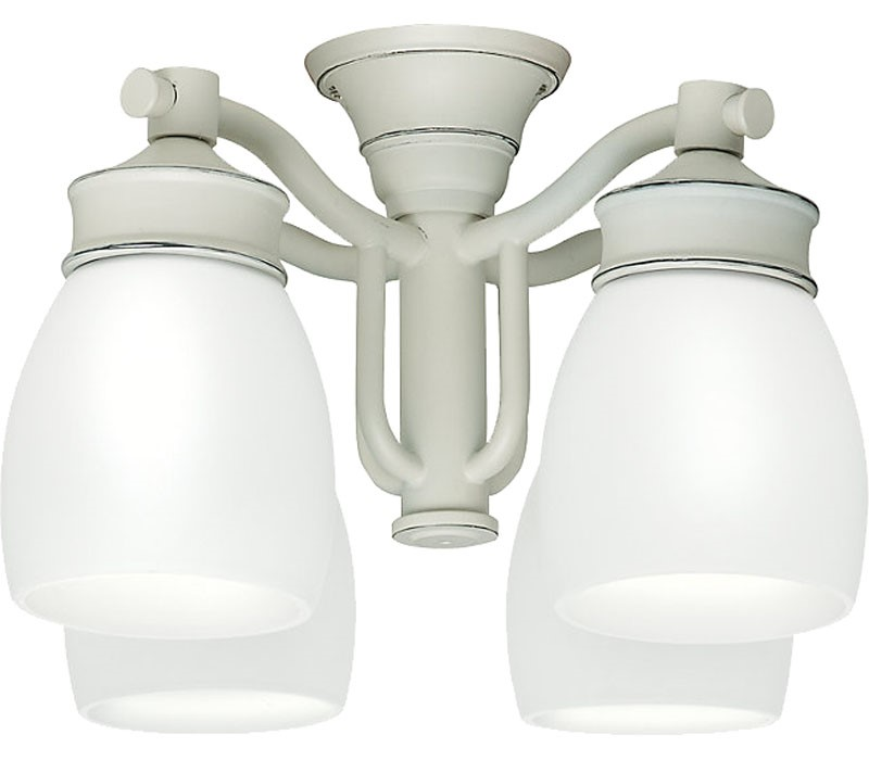 Casablanca Outdoor Wet Four-Light Light Kit with Cased White Shade - Cottage White (99089)
