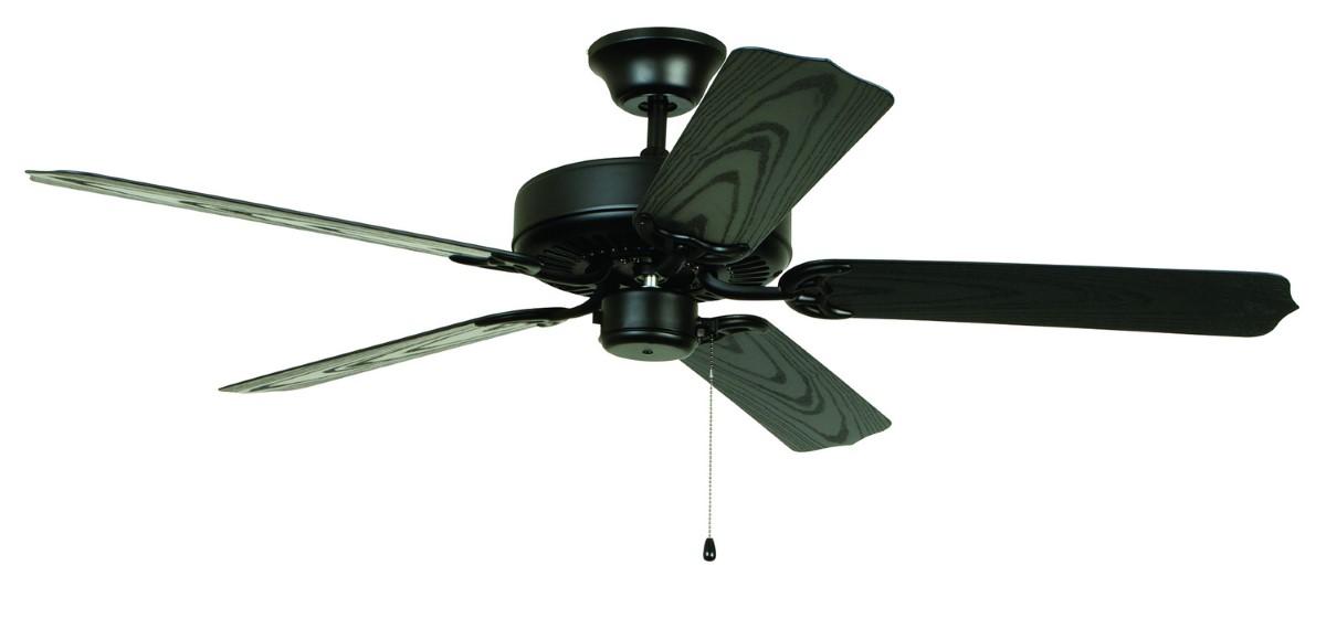 "Craftmade Enduro 52"" Matte Black Ceiling Fan (END52MBK5X)"