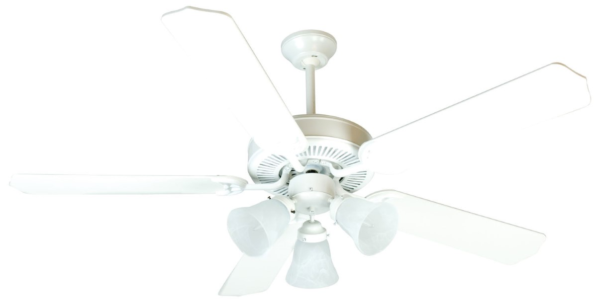 52 White Ceiling Fan With Light 2021