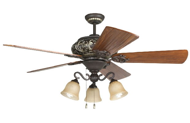 "Craftmade Ophelia 54"" Bronze Ceiling Fan (K11237)"
