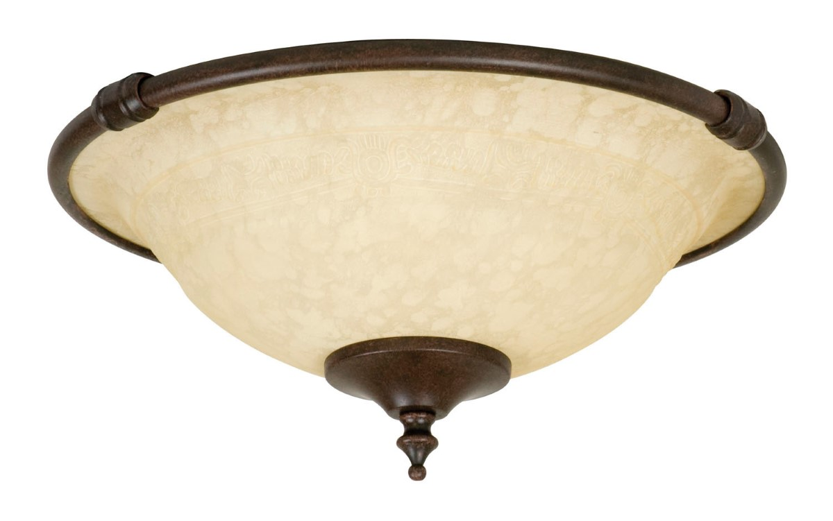 Craftmade LED Bowl Light Kit with Antique Scavo Glass - Aged Bronze Textured (LK24-AG-LED)
