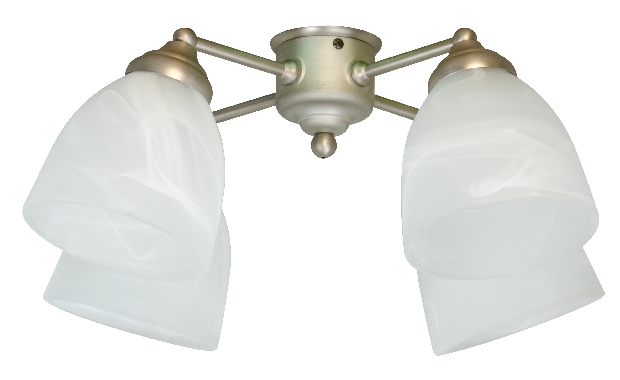 Craftmade Universal LED Four-Light Light Kit with Bell Shaped Alabaster Glass - White (LK401-W-LED)