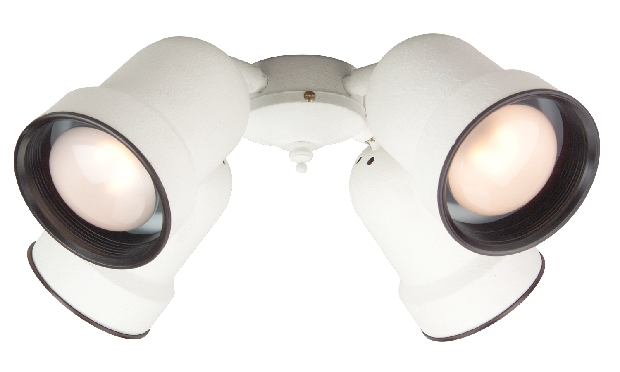 Craftmade Universal LED Four-Light Light Kit with Bell Shaped White Glass - White (LK404-W-LED)