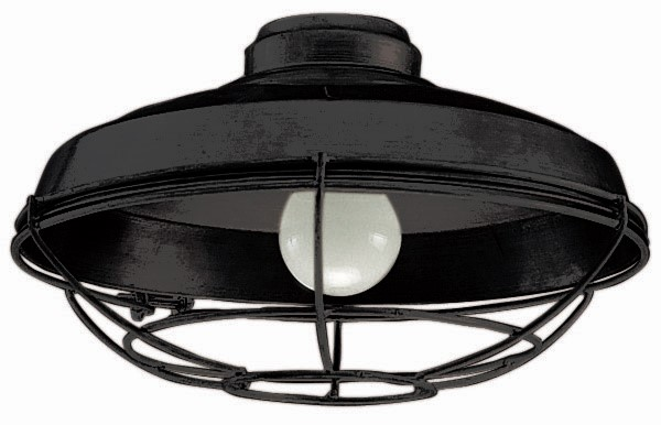 Craftmade Outdoor Damp LED Bowl Light Kit with Flat Black Wire - Flat Black (LK984FB)