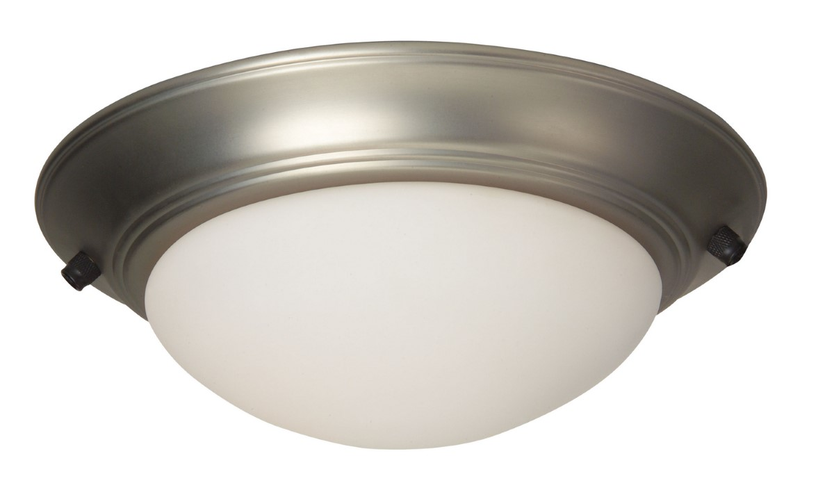 Craftmade LED Bowl Light Kit with Cased White Glass - Brushed Nickel (LKE53-BN-LED)