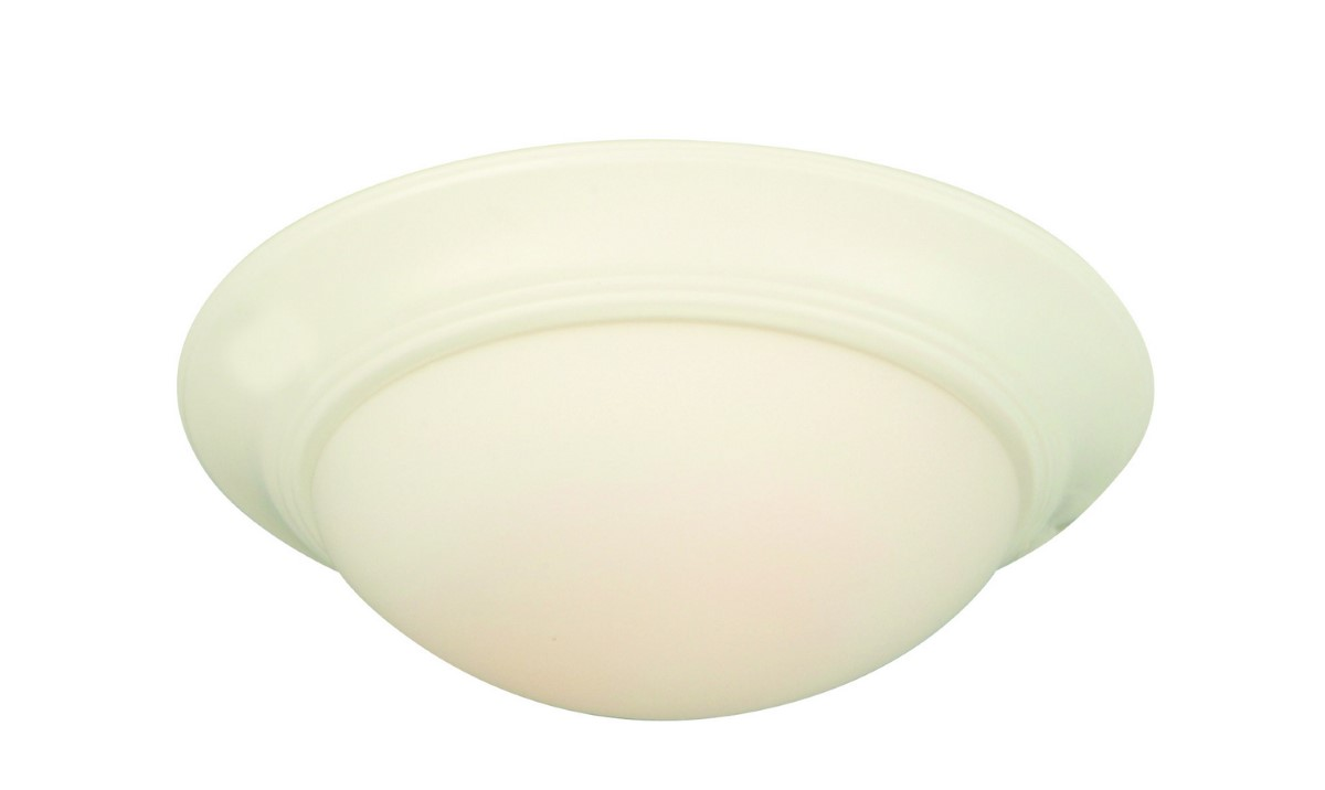 Craftmade LED Bowl Light Kit with Cased White Glass - White (LKE53-W-LED)