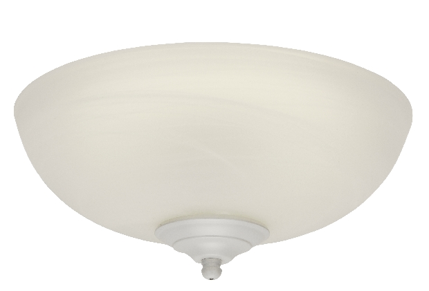 Craftmade Two-Light Bowl Light Kit with White Satin Glass (LKE74CFL)
