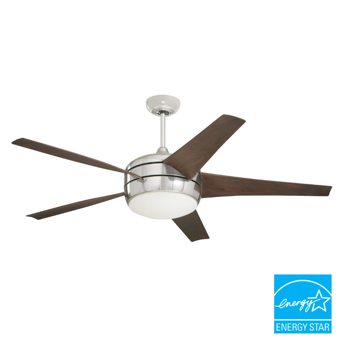 Emerson Midway Eco Brushed Steel Ceiling Fan