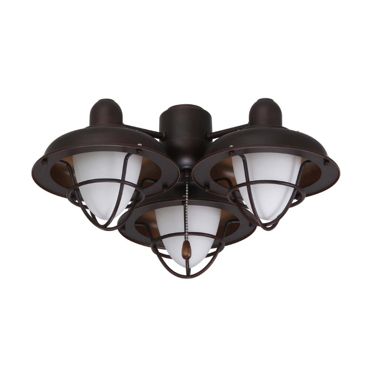 Emerson Boardwalk Outdoor Damp LED Cage Cage Light Kit with Opal Matte Shade - Oil-Rubbed Bronze (LK40ORB)