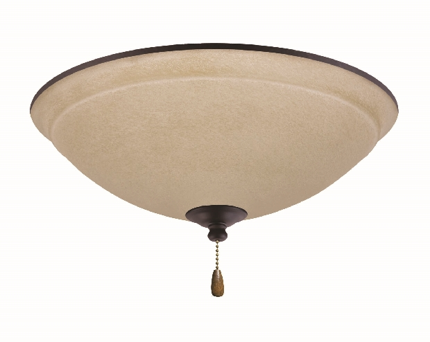 Emerson Ashton Outdoor Wet Bowl Light Kit with Amber Mist Shade - Oil-Rubbed Bronze (LK92ORB)