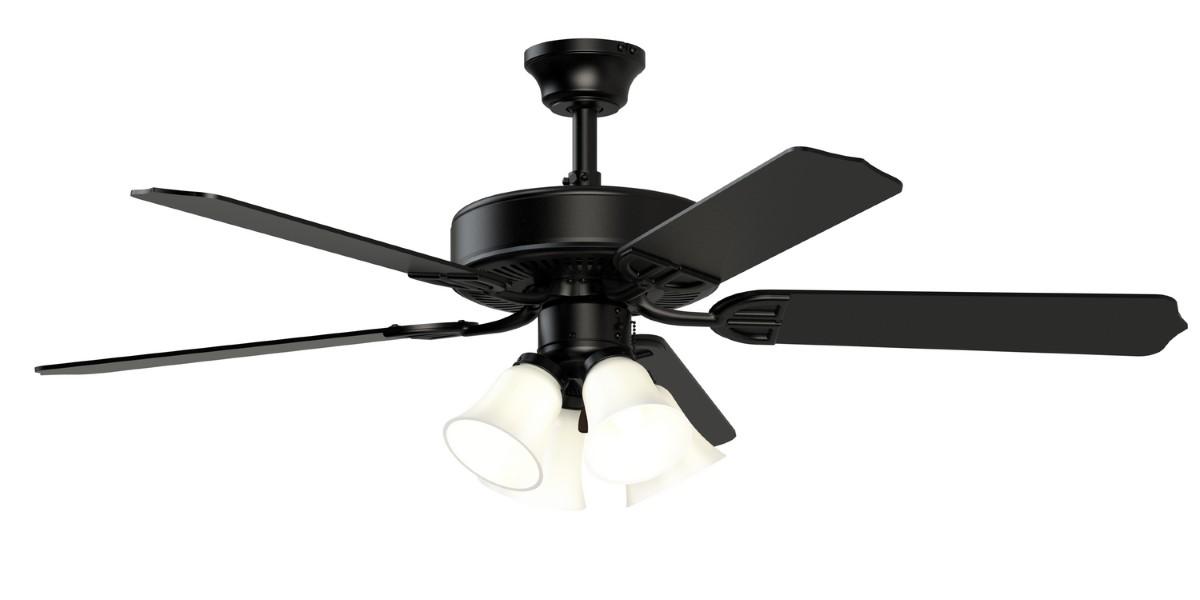 Fanimation Aire Decor Black Ceiling Fan 4 LED
