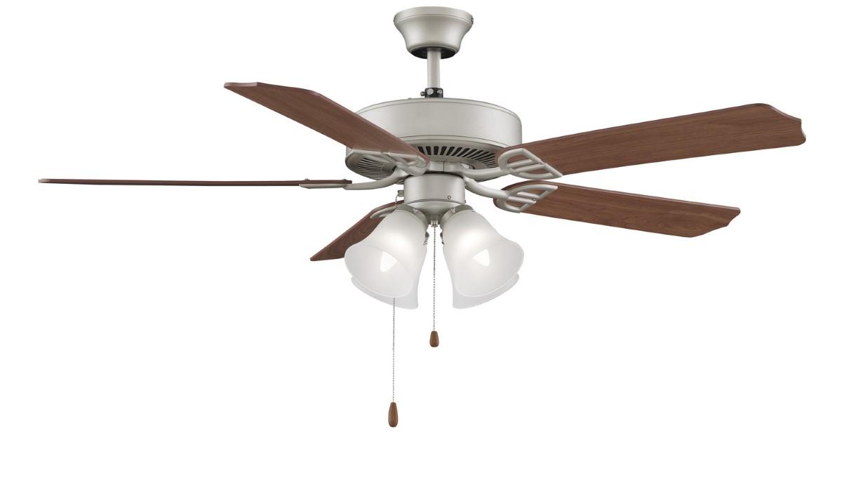Fanimation Aire Decor Nickel Ceiling Fan 4 LED