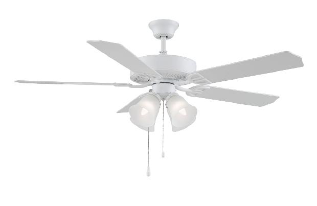 Fanimation Aire Decor White Ceiling Fan 4 Light