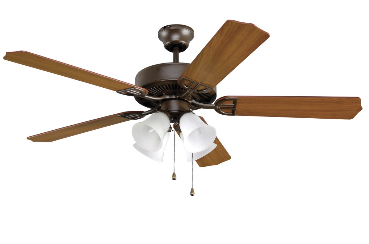Fanimation Aire Decor Bronze Fan Frost 4 Amber LED