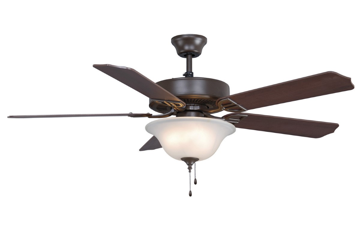 Fanimation Aire Decor Bronze Fan Frosted Amber LED
