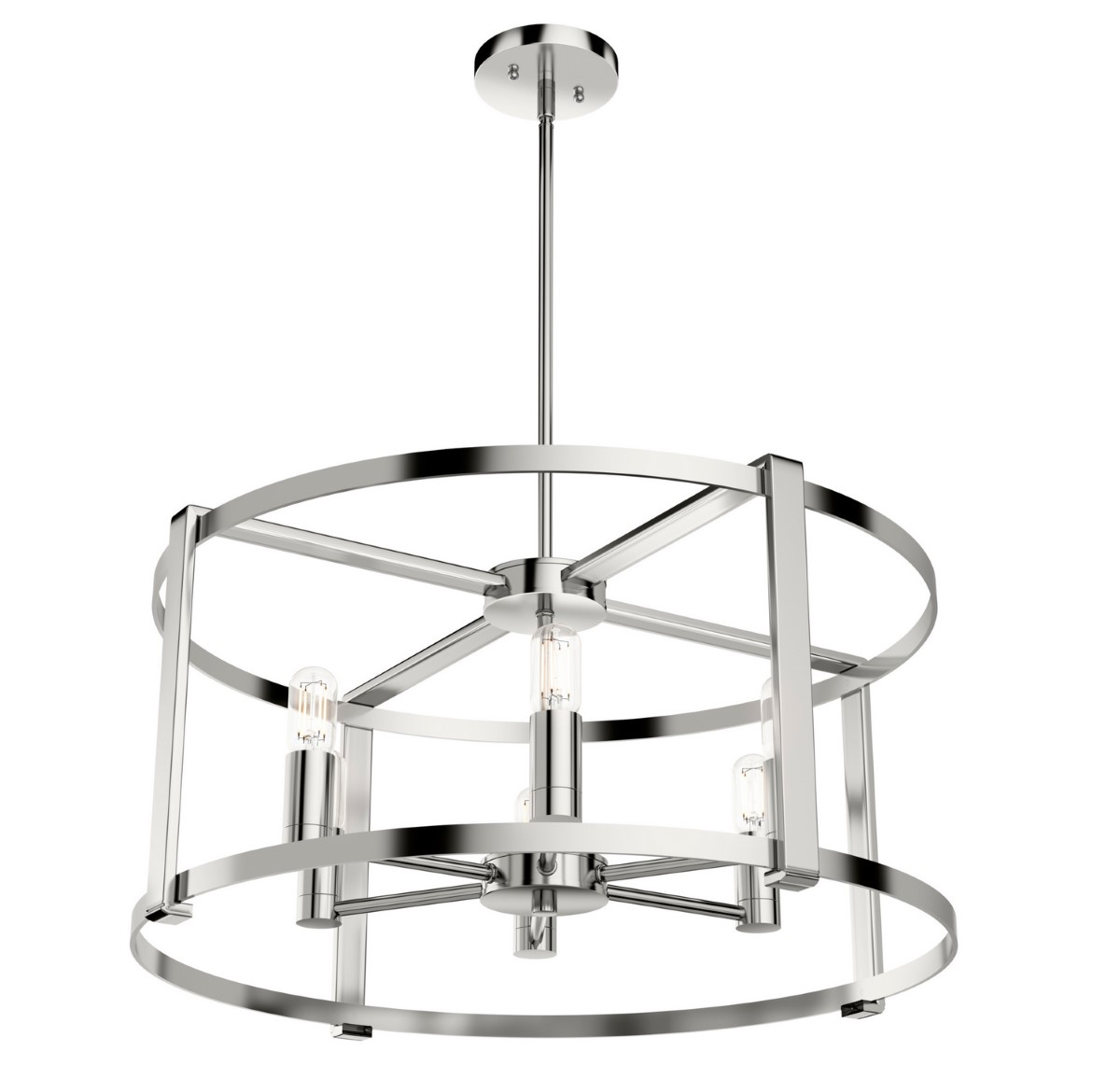 Hunter Astwood Chandelier - Polished Nickel (19000)