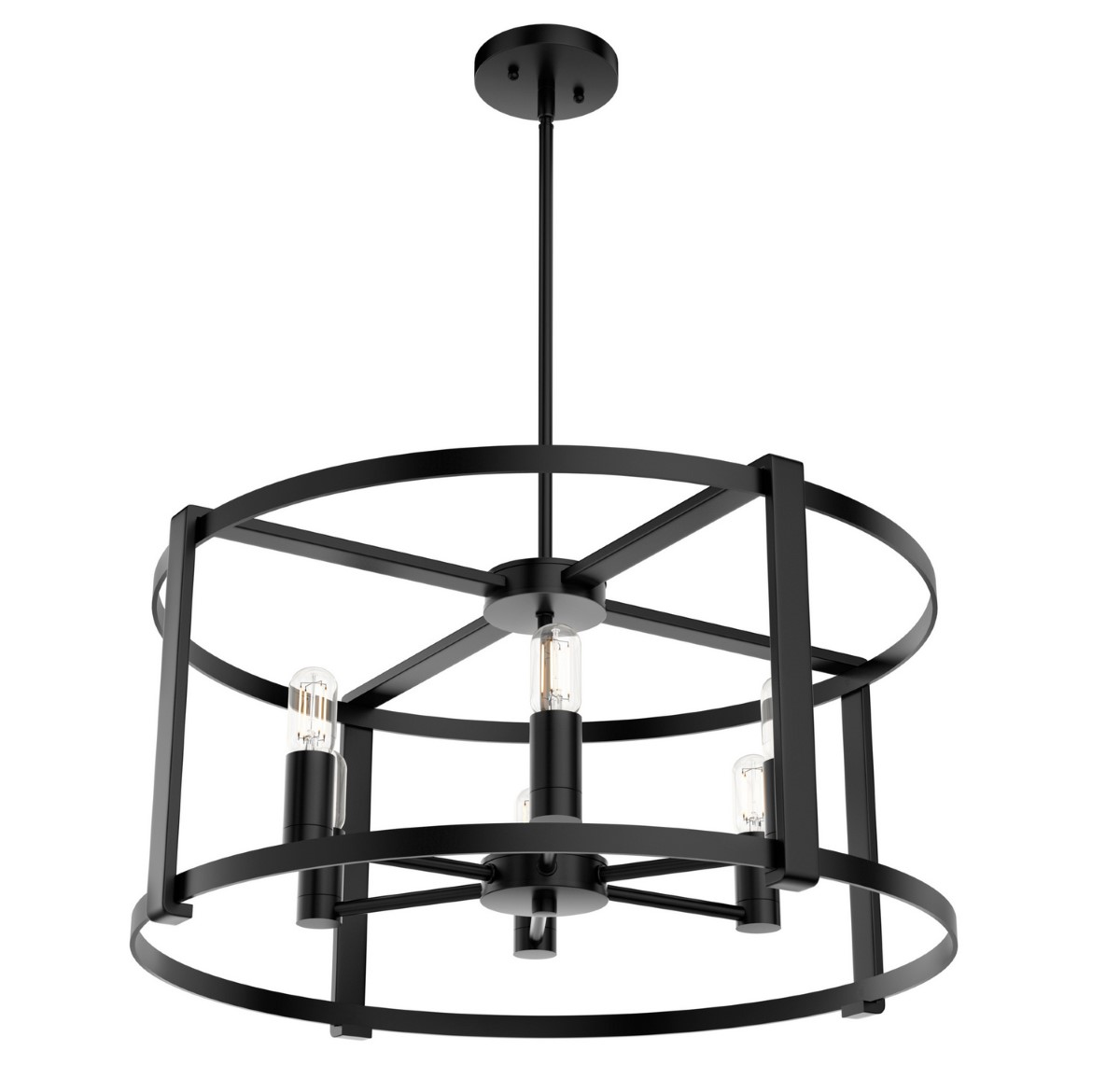 Hunter Astwood Chandelier - Matte Black (19001)
