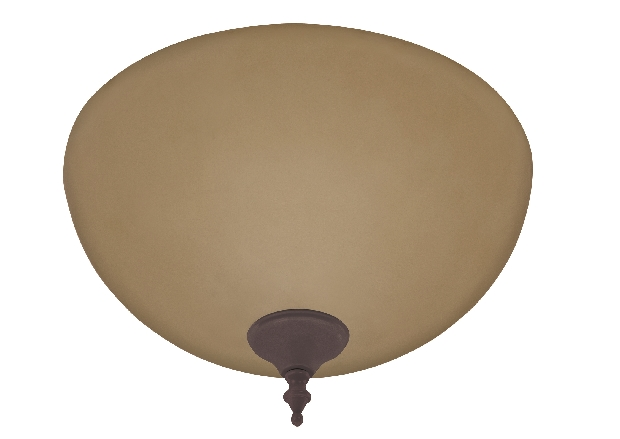 Hunter Bowl Light Kit with Amber Shade - New Bronze (21827)
