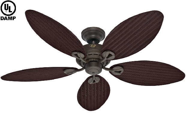 Outdoor Damp Provencal Gold Ceiling Fan