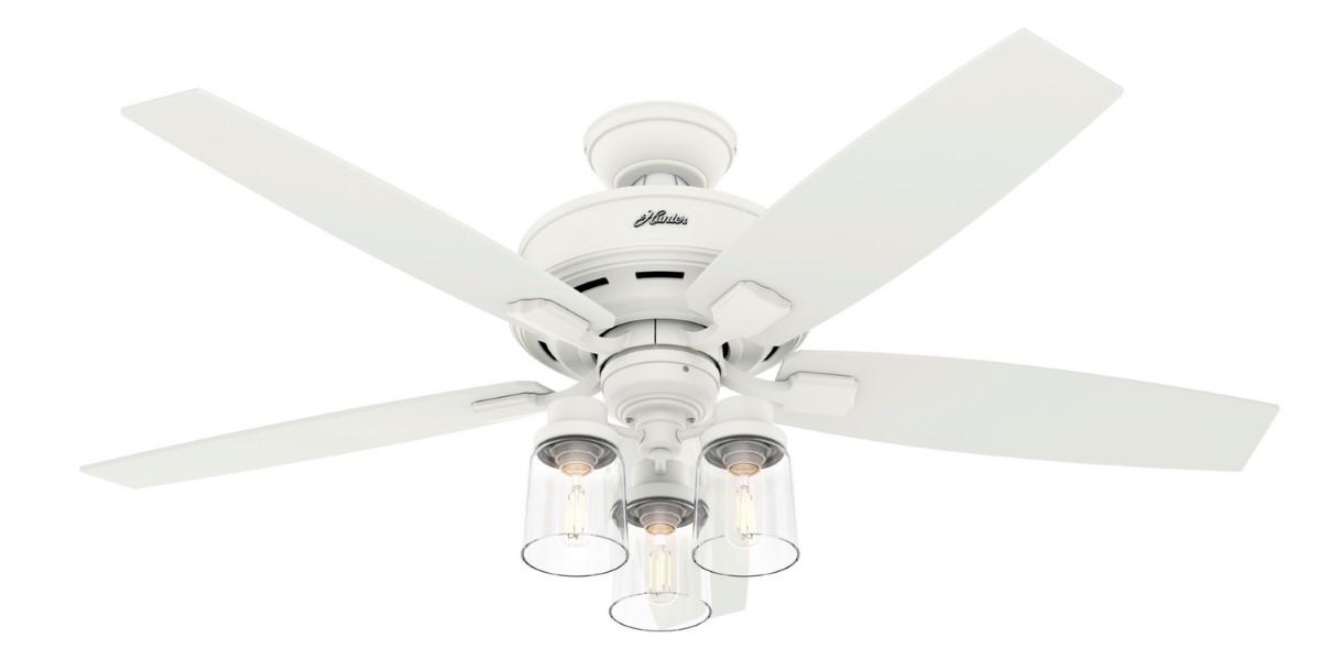 Hunter Bennett 52 White Ceiling Fan 3 LED