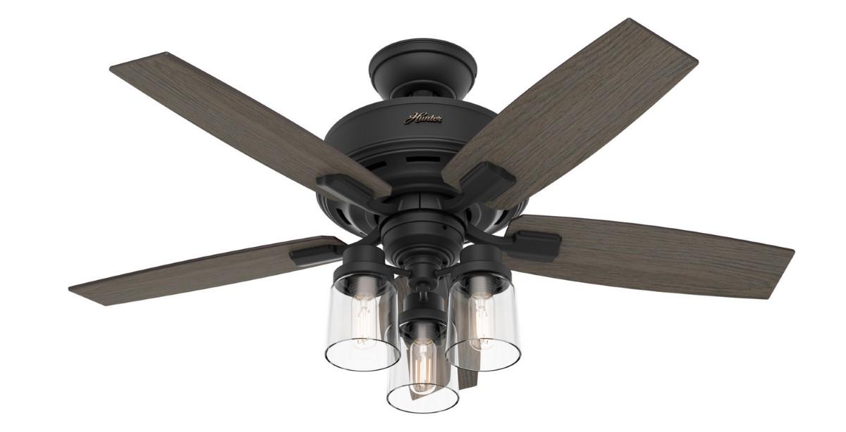 Hunter Bennett Matte Black Ceiling Fan