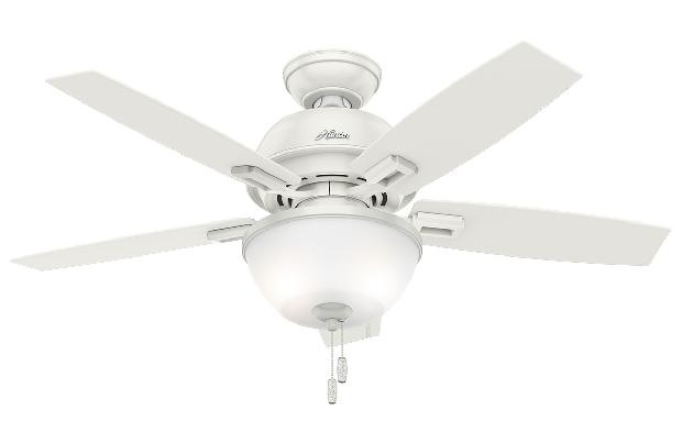 Hunter Donegan 44 White Ceiling Fan LED Oak