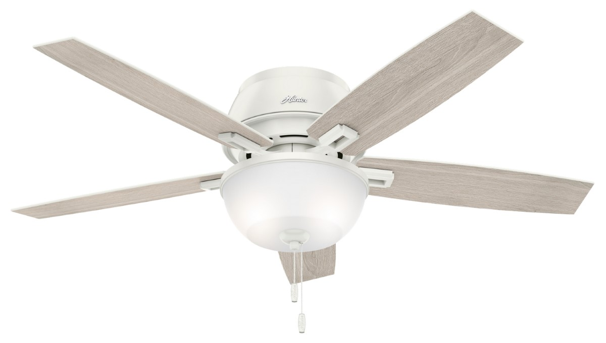 Hunter Donegan Low Profile Fresh White Ceiling Fan