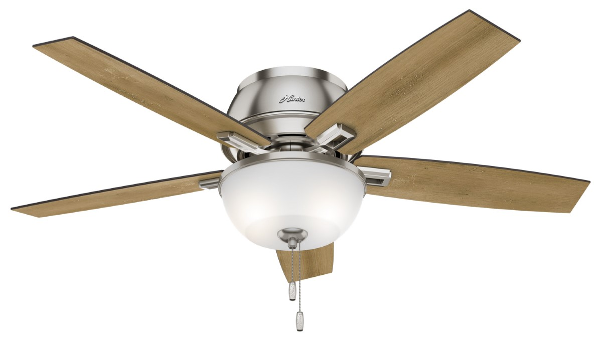 Hunter Donegan Low Profile Nickel Ceiling Fan