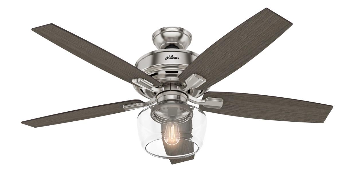 Hunter Bennett Nickel Ceiling Fan LED