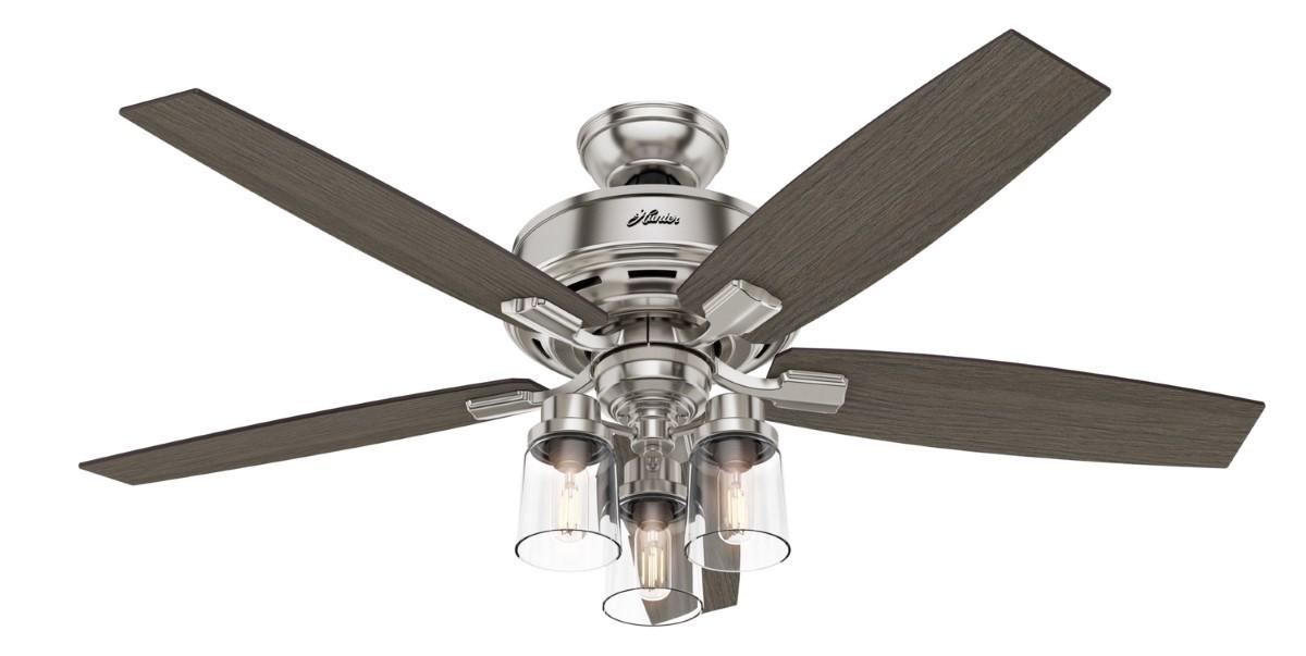 Hunter Bennett Nickel Ceiling Fan 3 LED