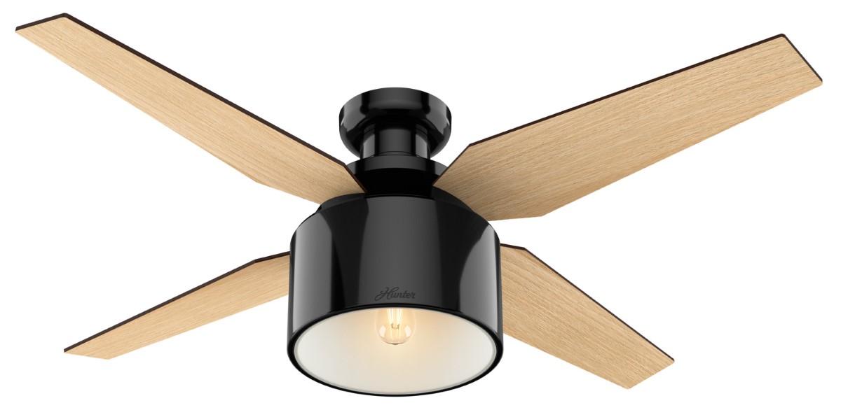Hunter Cranbrook Low Profile Black Ceiling Fan