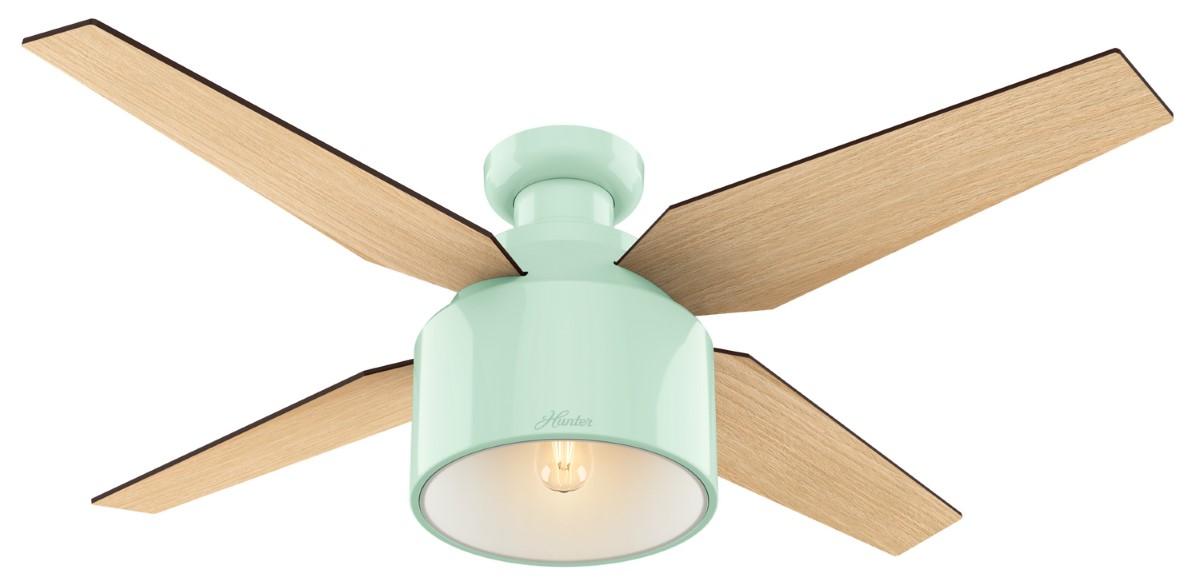 Hunter Cranbrook Low Profile Mint Ceiling Fan