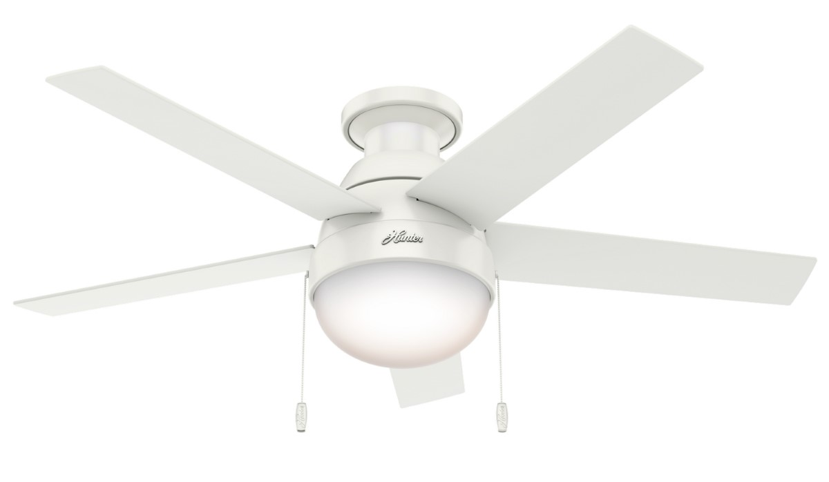 Hunter Anslee Low Profile Fresh White Ceiling Fan