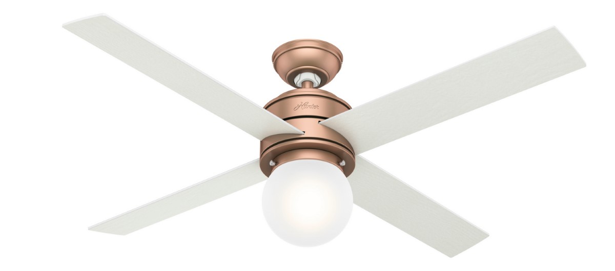 Hunter Hepburn Satin Copper Ceiling Fan