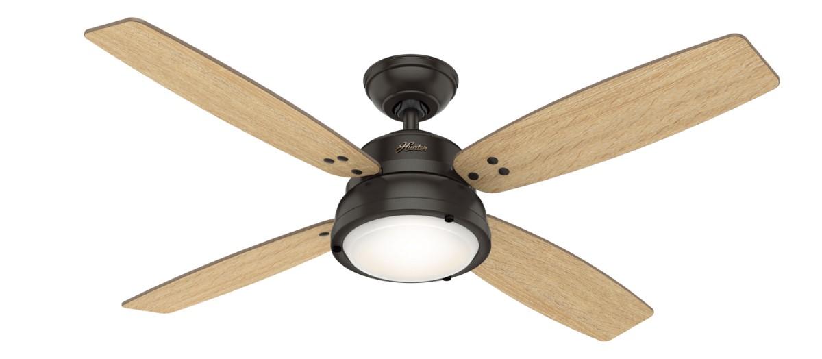 Hunter Wingate Noble Bronze Ceiling Fan Light