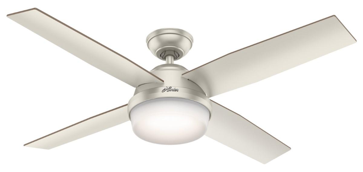 Hunter Dempsey Matte Nickel Ceiling Fan