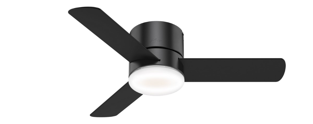 Hunter Minimus Low Profile Matte Black Ceiling Fan