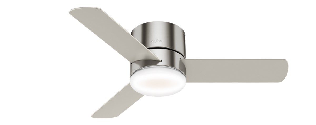 Hunter Minimus Low Profile Nickel Ceiling Fan