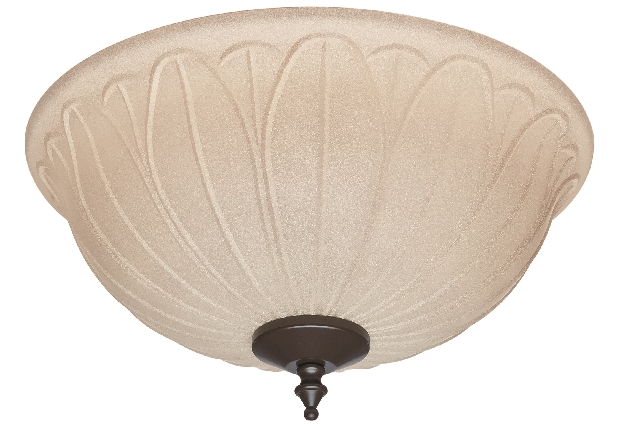 Hunter Outdoor Damp Bowl Light Kit with Tea Stain Shade (99157)