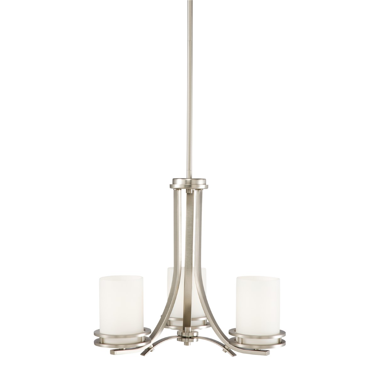Kichler Hendrik Chandelier with Satin Etched Cased Opal Shade - Brushed Nickel (1671NI)