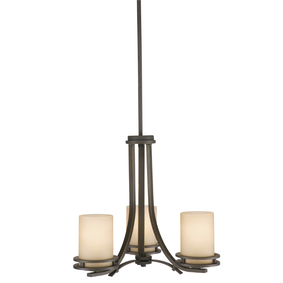 Kichler Hendrik Chandelier with Light Umber Shade - Olde Bronze (1671OZ)