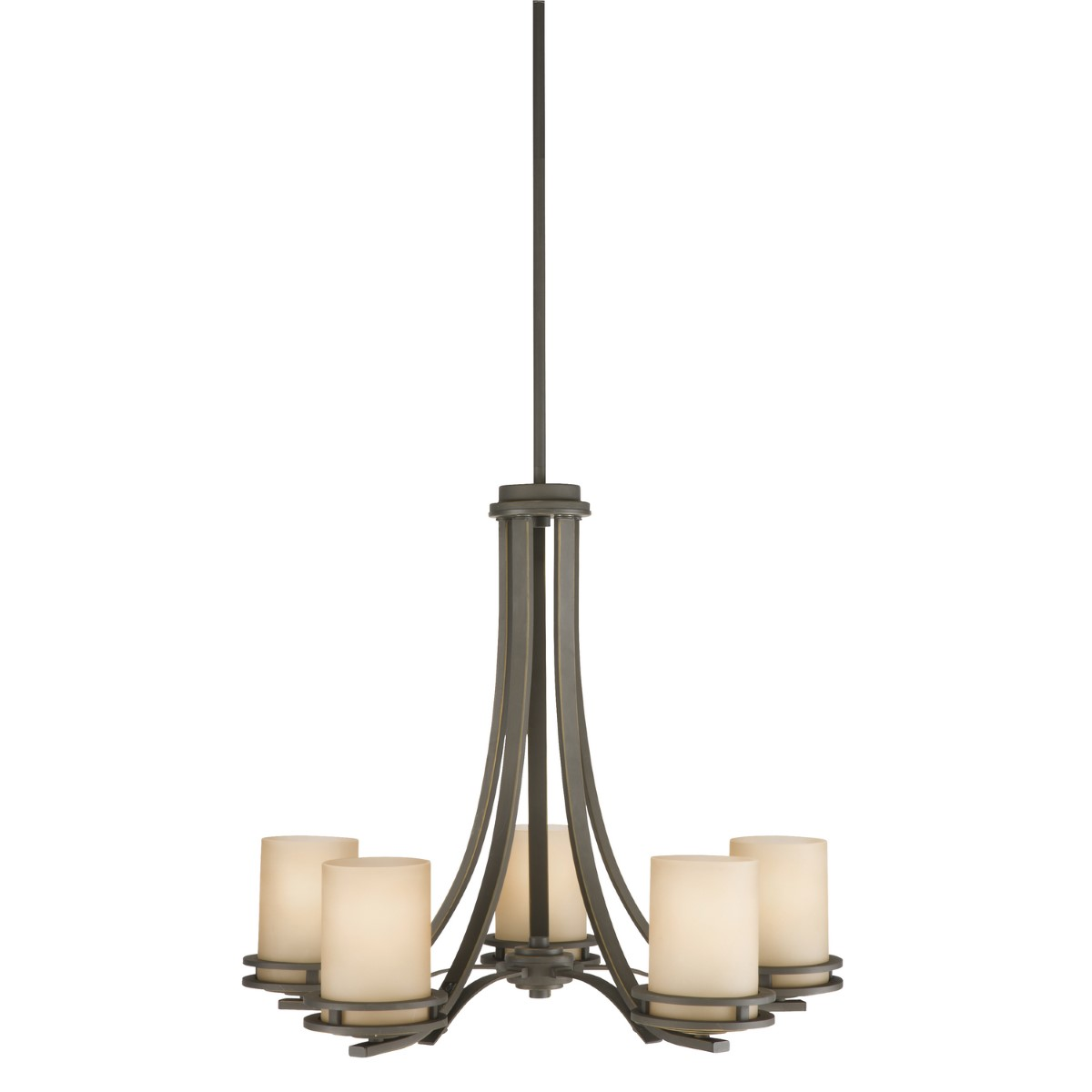 Kichler Hendrik Chandelier with Light Umber Shade - Olde Bronze (1672OZ)