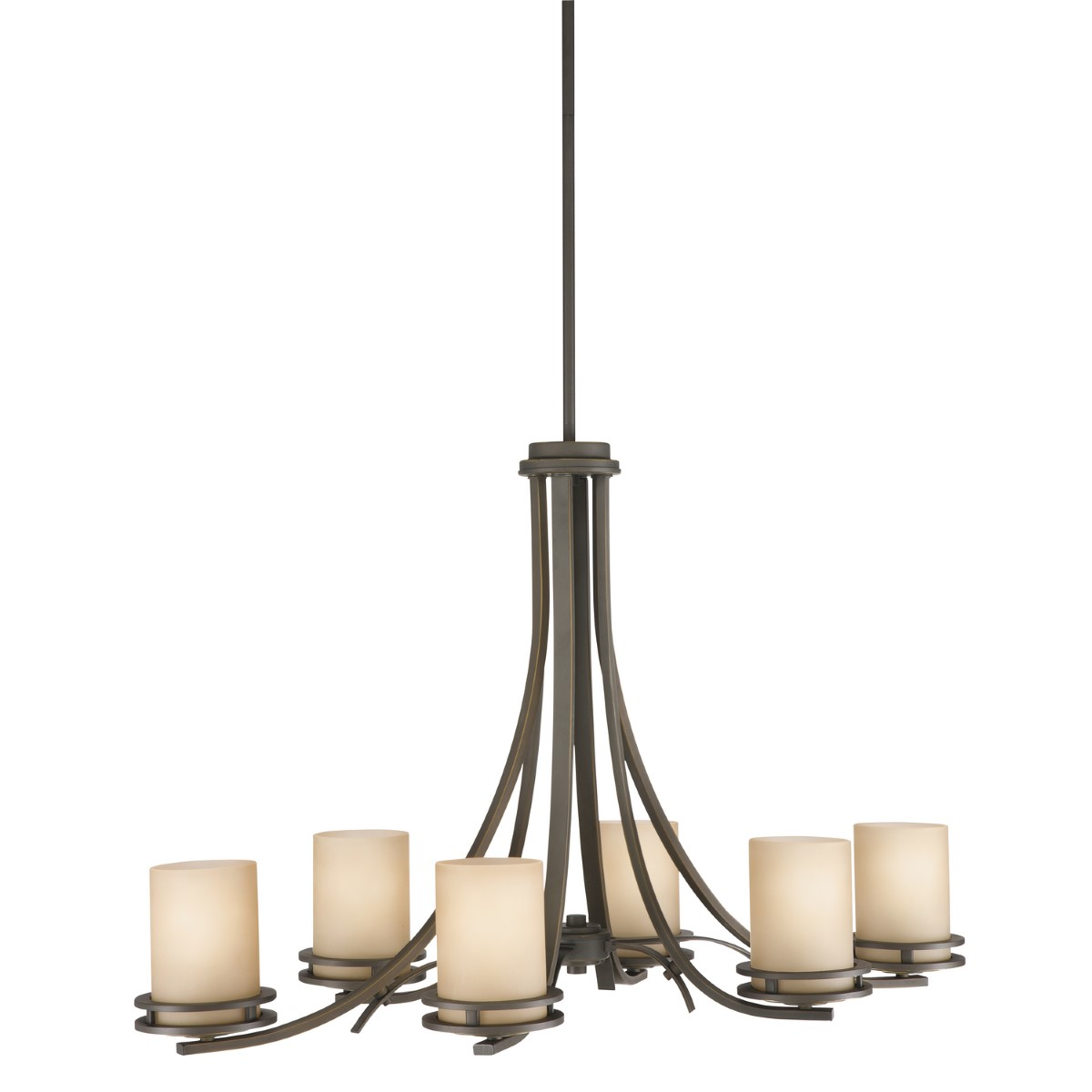 Kichler Hendrik Chandelier with Light Umber Shade - Olde Bronze (1673OZ)